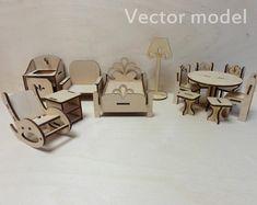 vector plan for CNC laser cutting.Furniture for home bedroom,office,wooden furniture.Vector file,digital upload Wooden Cabinet-bear shelf