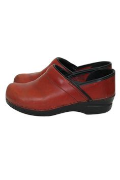 Dansko Professional Red Leather Clogs Nurses Chefs Shoes Size 39