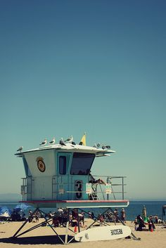 Santa Cruz lifeguard station. [i've been here obviously, but I had to pin it somewhere...]