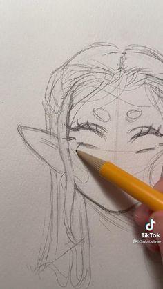 Art Drawings Sketches Simple, Pencil Art Drawings, Hand Drawings, Art Inspiration Drawing, Drawing Ideas, Diy Canvas Art, Cartoon Art Styles, Art Sketchbook, Art Tutorials
