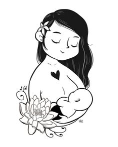 "OH NAZ on Instagram: ""OH NAZ x BUTT Talks collab. #illustration #drawing #breastfeeding #normalizebreastfeeding #baby #clothdiapers #clothdiapersph #lotus"""