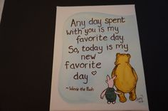 Classic Winnie the Pooh, hand painted 8 x 10 stretch canvas, acrylic paint, Pooh and Piglet, friendship, adventure by MoonbeamsBearDreams on Etsy