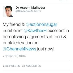 Tweets from yesterday! #sugar #sugary #nutritionist #nutrition #health #drinks #food #obesity #type2diabetes #toothdecay #dentalhealth #government #ukgovernment #evidence #aseemmalhotra by nutrition_by_kawther