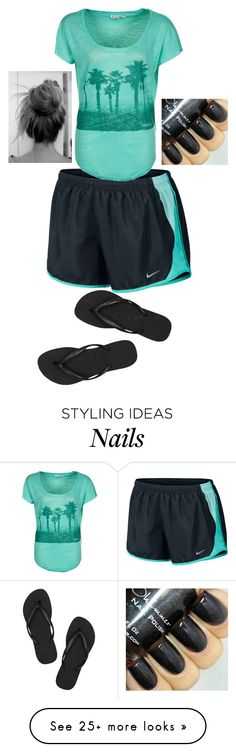 """""""Me Right Now"""" by kirra-1994 on Polyvore featuring NIKE, Havaianas and Billabong"""