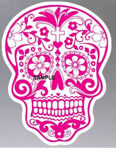 Pink Skull cross stitch chart is now in store at www.crossstitchchartheaven.co.uk
