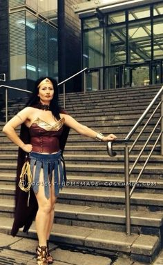 Sexy Wonder Woman Costume in Amazonian Warrior Style... a homemade female superhero costume idea with a twist.