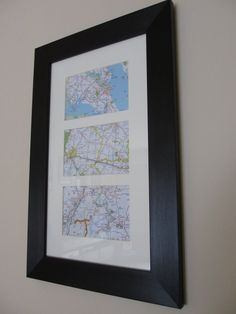 Met, Married & Honeymooned ~ DIY Map Project. Cute wedding or anniversary gift!