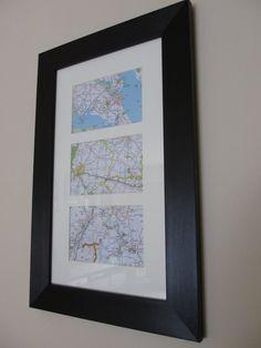 Met, Married & Honeymooned ~ DIY Map Project. Cute wedding or anniversary gift!