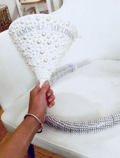 Bedazzled white bridal beer bong funnel for bachelorette party Cowgirl Bachelorette Parties, Bachelorette Party Planning, Girls Party Decorations, Bachelorette Party Shirts, Bachelorette Party Decorations, Bachelorette Weekend, Bedazzled Bottle, Beer Bong, Party Hacks