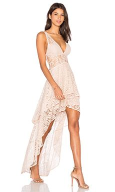 THE JETSET DIARIES Resort Maxi Dress in Nude