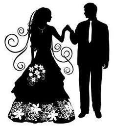 Свадебные силуэты фото #2