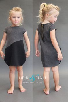 What a fun dress for your little girl! This pattern is for the Cocoon dress  The cocoon dress is a simple, comfy and modern staple in any little