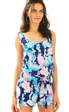 Lilly Pulitzer Womens Rina Romper