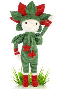 Амигуруми:Рождественская звезда. Бесплатная схема для вязания игрушки. FREE…