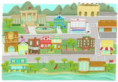 Image result for my town clipart การศึกษา ครู