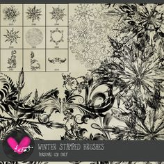Winter Dreams Stamped Brushes  by #heartjournaling #thestudio #digitalscrapbooking