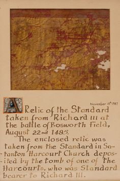 Battle of bosworth field flag standard fragment