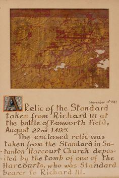 Battle of bosworth field flag standard fragment