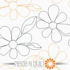 Groovy Flowers Pantograph Pattern - Digital & Paper availalbe