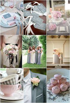 pink grey wedding ideas