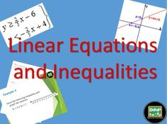 This free one day sample lesson includes one power point on linear inequalities, practice worksheet for solving linear equations and homework worksheet over linear inequalities.  This is a one day sample of what you would find in the complete unit bundle for linear equations and inequalities.