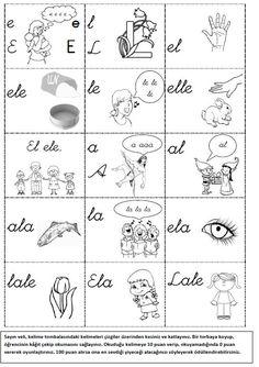 Okul Bahçesi: e-l-a Sesleri ile Okuma Alıştırmaları Pre Writing, First Grade, Teaching, Education, School, Cases, Writing, Deutsch, Learning