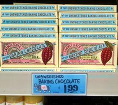 Trader Joe's Unsweetened Baking Chocolate Single Origin Huila 113g $1.99 トレーダージョーズ 無糖ベーキングチョコレート シングルオリジン ウイラ #トレーダージョーズ #チョコレート #traderjoes #chocolate