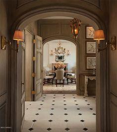 elegant hallway to the dining room