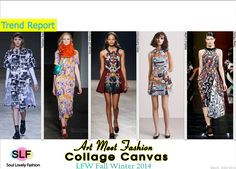 Art Meet Fashion: Collage Canvas Patchwork #Fashion Trend for Fall Winter 2014 #Fall2014 #Print #Prints #LFW #Fall2014Trends #FashionTrends2014