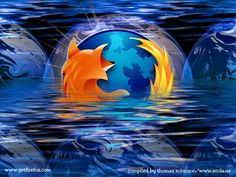 Mozilla Firefox on orange curves wallpaper Computer wallpapers
