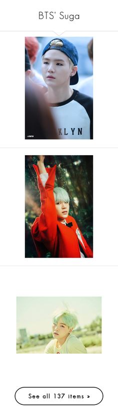 """BTS' Suga"" by jasmine-quarry ❤ liked on Polyvore featuring bts, suga, kpop, min yoongi, k-pop, bts - suga, people, yoongi, photos and boys"
