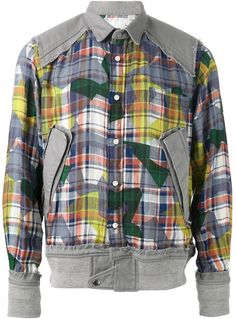 Sacai patchwork harrington jacket