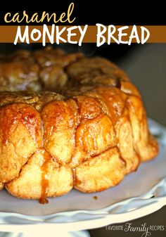Caramel Monkey bread, monkey bread, bubble bread, pull-apart bread... call it what you like, this stuff is amazing! #monkeybread #monkeybreadrecipe