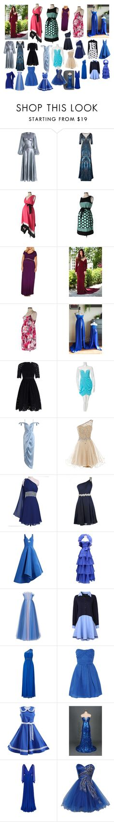 """""""A.C.E. Random Gowns"""" by asherthecrimsonfox ❤ liked on Polyvore featuring Zimmermann, Jenny Packham, Motherhood Maternity, Rosie Assoulin, Jean-Louis Scherrer, LUISA BECCARIA, Adrianna Papell, Carven, Victoria Beckham and plus size dresses"""
