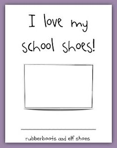 I love my school shoes class book with free printable