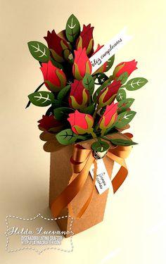 Pop Up Flower Cards, Pop Up Box Cards, 3d Cards, Cricut Birthday Cards, Cricut Cards, Fancy Fold Cards, Folded Cards, Paper Flowers Craft, Paper Crafts