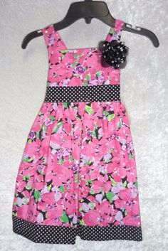 Youngland girls dress floral & dots sleeveless pink multi cotton size 4, 5 NEW  16.99 free shipping http://www.ebay.com/itm/-/252048301018?