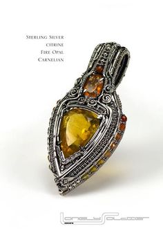 silver wire pendant