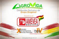 AGROVIDA distribuidor exclusivo de Grupo Drogavet presente en el AMEVEA-BOLIVIA 2016.