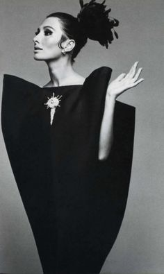 dress -  Balenciaga , model -  Audrey Hepburn, photograph - Irving Penn