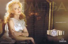 Soft curls Nicole Kidman Omega print ad