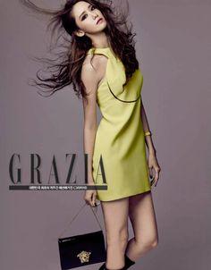 Girls' Generation SNSD Im Yoona Grazia Magazine September 2015 Photoshoot Fashion