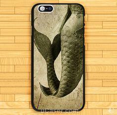 Mermaid vintage design art Design iPhone Cases Case