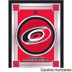 Carolina Hurricanes Holland Bar Stool Co. Collector Red Logo Mirror x Duck Logo, Nhl Logos, Holland Bar Stool, Carolina Hurricanes, Anaheim Ducks, Red Logo, Chicago Cubs Logo, Illusions, Picture Frames