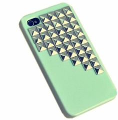 Fashion Punk Studs and Spikes Mobile Phone Case for iPhone 4/4S DIY Studs Case:Amazon:Cell Phones & Accessories