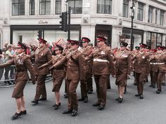 LONDON PRIDE — A-Broad In London. Marching down London's Regent St showing their support at London's Pride Parade 2016