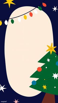 Festive oval Christmas frame mobile wallpaper vector | premium image by rawpixel.com / Toon Christmas Frames, Christmas Gift Box, Merry Christmas Card, Christmas Snowflakes, Christmas Design, Cute Christmas Wallpaper, Christmas Background Vector, Illustration Noel, Illustrations
