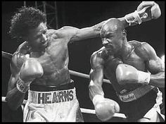 """Most exciting fight in boxing history.... April 15, 1985 Las Vegas, NV Middleweight Wold Championship Thomas Hearns vs. """"Marvelous"""" Marvin Hagler (video) Rd.1"""
