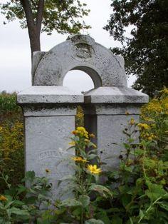 Arch shaped stone Smith Cemetery Plain City, Ohio