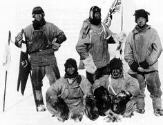 The five men of Scott's team who reached the South Pole and who died on the return journey